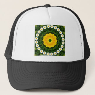 Gänseblümchen-Natur, Blume-Mandala Truckerkappe