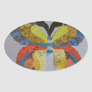 Gänseblümchen Ovaler Aufkleber