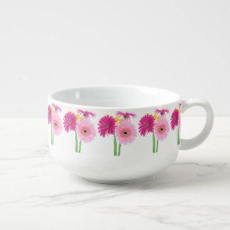 Gänseblümchen-Rosa Große Suppentasse