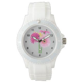 Gänseblümchen-Rosa Uhr