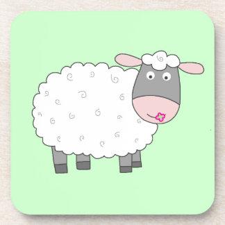 Gänseblümchen-Schafe Getränk Untersetzer