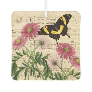 Gänseblümchen-Schmetterlings-Musik Autolufterfrischer