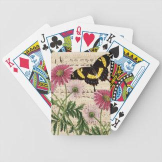 Gänseblümchen Schmetterlings-Musik Bicycle Spielkarten