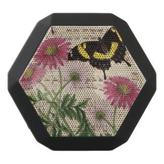 Gänseblümchen-Schmetterlings-Musik Schwarze Bluetooth Lautsprecher