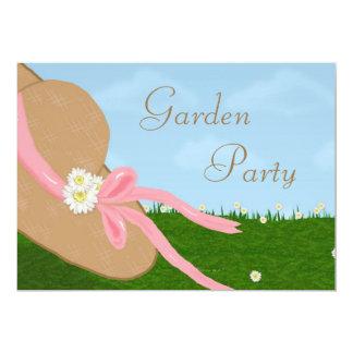 Gänseblümchen-Strohhut-Garten-Brautparty-Einladung 12,7 X 17,8 Cm Einladungskarte