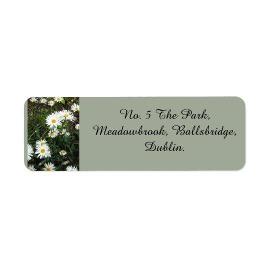 Gänseblümchen-Thema-Adressen-Etiketten