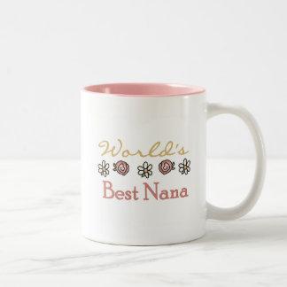 Gänseblümchen und beste die Nana-T-Shirts der Zweifarbige Tasse