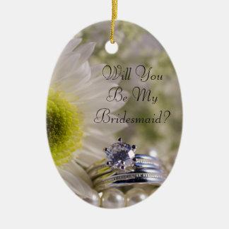 Gänseblümchen und Diamant-Ringe sind Sie sind Keramik Ornament