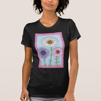 Gänseblümchen und Gingham T-Shirt