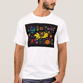 Gänseblümchen-und Marienkäfer-Kunst T-Shirt