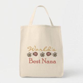 Gänseblümchen und Rosen-Welten beste Nana Tragetasche