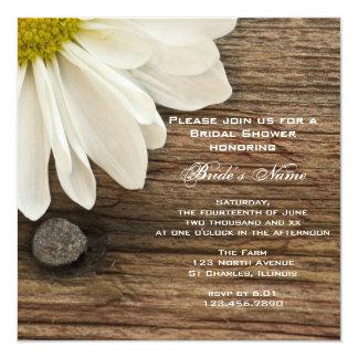 Gänseblümchen-und Scheunen-laden hölzernes Individuelle Einladungen