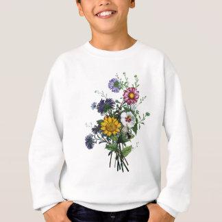 Gänseblümchen-und Sonnenblume-Blumenstrauß Jeans Sweatshirt