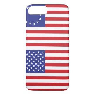 Ganz amerikanisch - 13 u. 50 Stern US-Flaggen iPhone 8 Plus/7 Plus Hülle