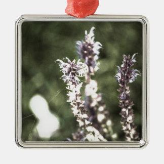 Ganz über Blütenstaub Silbernes Ornament