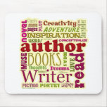 Ganz über die Autoren rot Mauspad
