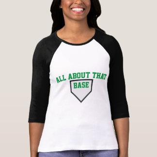 Ganz über dieses Baseballt-stück der niedrigen T-Shirt