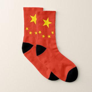 Ganz über Druck-Socken mit Flagge der China Socken