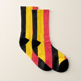Ganz über Druck-Socken mit Flagge von Belgien Socken