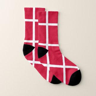 Ganz über Druck-Socken mit Flagge von Dänemark Socken