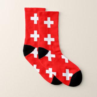 Ganz über Druck-Socken mit Flagge von der Schweiz Socken