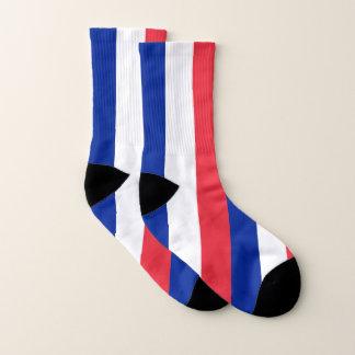 Ganz über Druck-Socken mit Flagge von Frankreich Socken