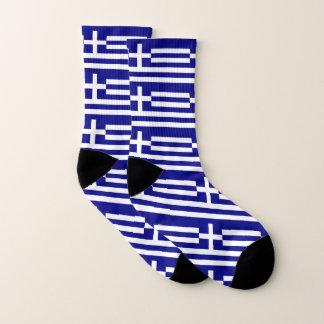 Ganz über Druck-Socken mit Flagge von Griechenland Socken