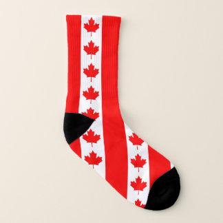 Ganz über Druck-Socken mit Flagge von Kanada Socken