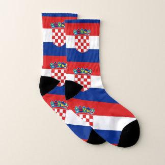 Ganz über Druck-Socken mit Flagge von Kroatien Socken