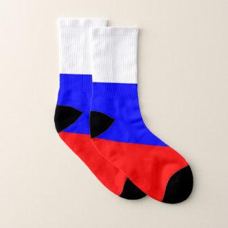Ganz über Druck-Socken mit Flagge von Russland Socken