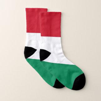 Ganz über Druck-Socken mit Flagge von Ungarn Socken