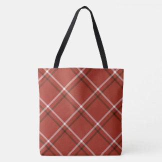 Ganz über Druck-Tasche - rotes kariertes Tasche