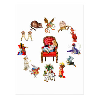 Ganz um Alicen im Wunderland Postkarte
