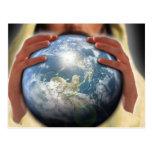 Ganze Welt in seinen Händen