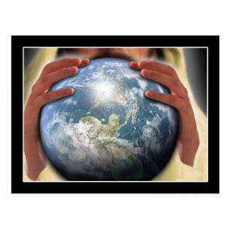 Ganze Welt in seinen Händen Postkarte