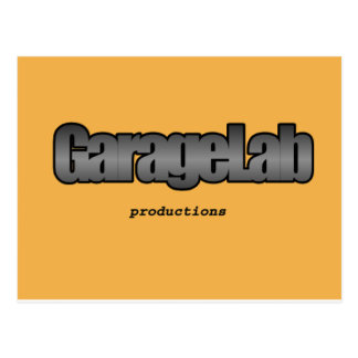 Garagelab Produktionslogo Postkarte