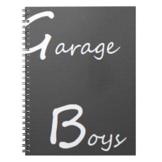 Garagen-Jungen-Logo Notizblock