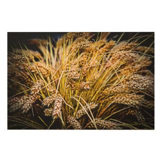 Garbe Weizen - danke Holzdruck
