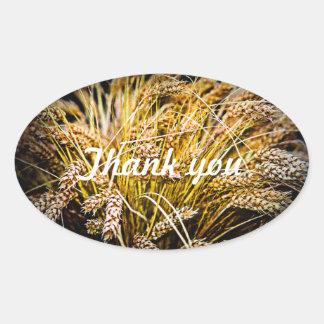 Garbe Weizen - danke Ovaler Aufkleber