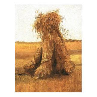 Garben Weizen auf einem Gebiet, Van Gogh Postkarte