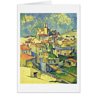 Gardanne durch Paul Cezanne Karte