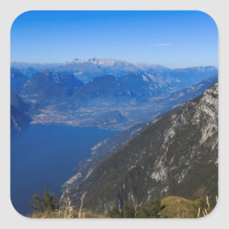 Gardasee Quadratischer Aufkleber