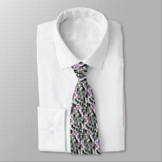 """Gardenias-"" geometrische Kunst-Krawatte Bedruckte Krawatte"