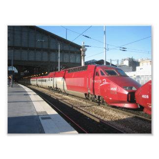 Gare du Nord Foto Druck
