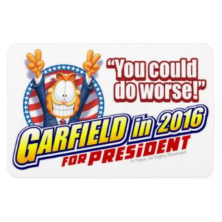 Garfield für Präsidenten im Jahre 2016 Eckige Magnete