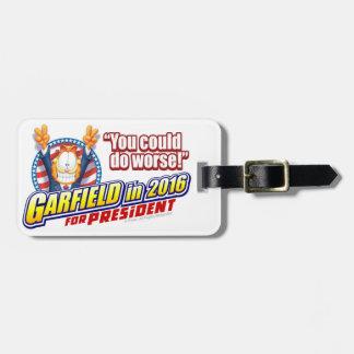Garfield für Präsidenten im Jahre 2016 Koffer Anhänger