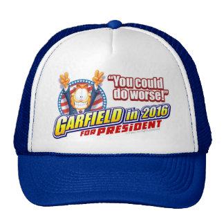 Garfield für Präsidenten im Jahre 2016 Trucker Kappe