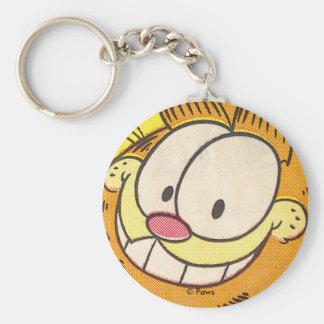 Garfield-Grinsen, keychain Standard Runder Schlüsselanhänger