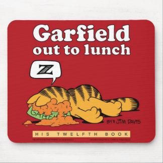 Garfield heraus, zum zu Mittag zu essen Mousepad