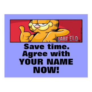 Garfield Logobox sind mit mir Postkarten